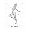 dancing girl constructed with lines and vector image vector image