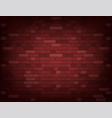 dark red brick wall realistic background vector image vector image