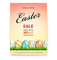easter sale save up to 50 percent of original vector image vector image