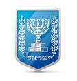 Emblem of Israel vector image vector image