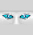 eyes robot vector image