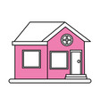 facade house city vector image vector image