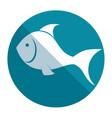 fish silhouette sea food menu vector image