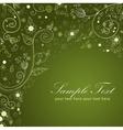 Floral twirl postcard green vector image vector image