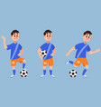 footballer in different poses vector image vector image