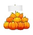 Heap of Halloween Pumpkins vector image vector image