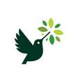 hummingbird colibri leaf tree logo icon vector image vector image