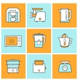 Kitchenware color icons set vector image vector image