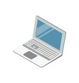 laptop with blank screen isometric 3d icon vector image