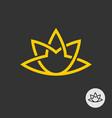 lotus flower line style elegant tattoo logo vector image