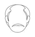 man old cartoon vector image vector image