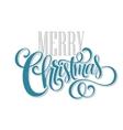 Merry christmas handwritten text vector image vector image