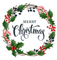 merry christmas lettering banner for web or social vector image vector image
