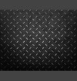 metal textured black plate with geometric pattern vector image vector image