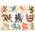 mythical animals vector image vector image
