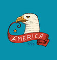 native eagle american set old labels and badges vector image vector image