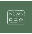 Newspaper icon drawn in chalk vector image vector image