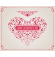 Ornate heart in retro style Elegant element for vector image