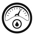 petrol dashboard icon simple style vector image