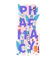pharmacy business online drug store character vector image