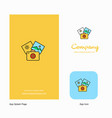 photography company logo app icon and splash page vector image