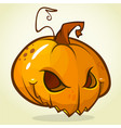 pumpkin head cartoon vector image vector image