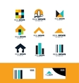 Real estate icon logo set vector image vector image