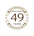 realistic forty nine years anniversary celebration vector image vector image