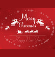 red white merry christmas card vector image