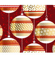 red xmas bubbles seamless pattern for background vector image