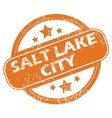 Salt Lake City round stamp vector image vector image