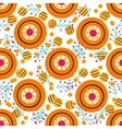 Seamless pattern with in Russian Dymkovo style vector image vector image