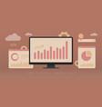seo digital marketing business concept vector image vector image
