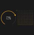 Set circular sector percentage diagrams from 0