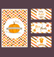 set of holiday thanksgiving backgrounds vector image vector image