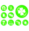 set of lucky symbols vector image