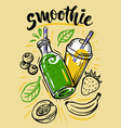 sketch fresh smoothie vector image vector image