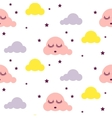 Sleepy clouds girlish seamless pattern