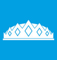 small crown icon white vector image vector image