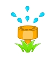 Sprinkler icon in cartoon style vector image