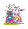 superhero animals cartoons vector image vector image