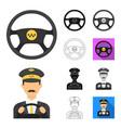 taxi service cartoonblackflatmonochromeoutline vector image vector image
