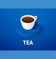 tea isometric icon isolated on color background vector image