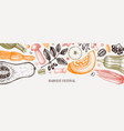 thanksgiving day banner autumn harvest festival vector image
