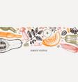 thanksgiving day banner autumn harvest festival vector image vector image