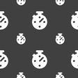Timer stopwatch icon sign Seamless pattern on a vector image vector image