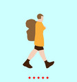 tourist it is icon vector image