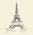 Tower Paris France architecture vintage vector image vector image