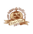 trick or treat retro happy halloween party vector image vector image