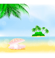 Tropical island pearls vector | Price: 1 Credit (USD $1)